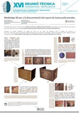 Póster Universitat de Barcelona modelatge 3D