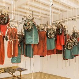 Imatge de mascares utilitzades a La Patum